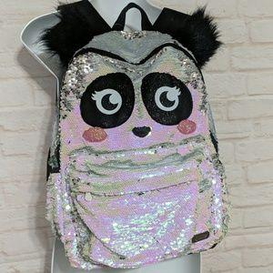 Justice flip sequin backpack panda